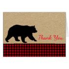 Lumberjack Bear Thank You Cards