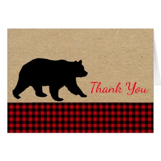 Lumberjack Bear Thank You Cards Zazzle Com