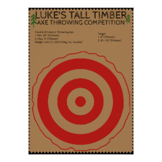 Lumberjack Birthday - Axe Throwing Game Poster