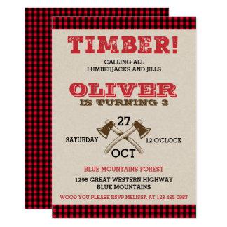 Lumberjack Birthday Invitations & Announcements | Zazzle