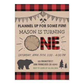 Lumberjack Birthday Invitation Woodland Birthday
