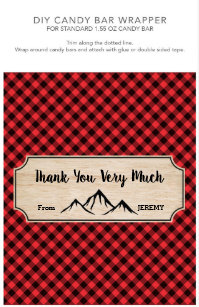 Candy Bar Wrappers Flyers Zazzle