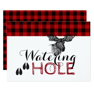 Lumberjack Birthday - Watering Hole Card