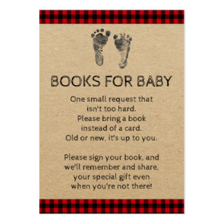 Lumberjack bring a book baby shower cards