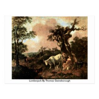 Lumberjack By Thomas Gainsborough Postcard