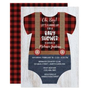 64a703dd584 Lumberjack Flannel Boy Baby Shower Invitation