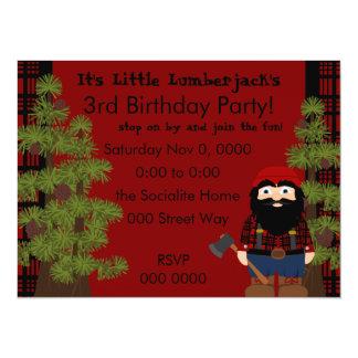 Lumberjack Gnome 5.5x7.5 Paper Invitation Card