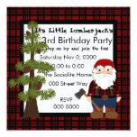 Lumberjack Gnome Custom Invitations