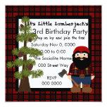 Lumberjack Gnome 5.25x5.25 Square Paper Invitation Card