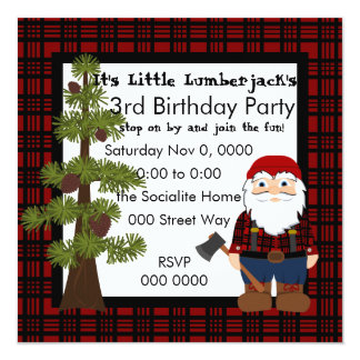 Lumberjack Gnome Invitation
