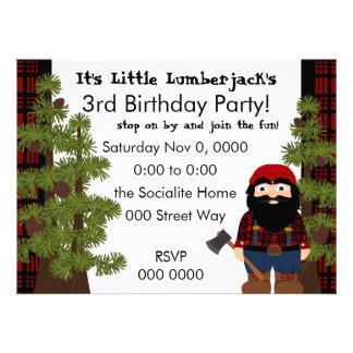 Lumberjack Gnome Invitations