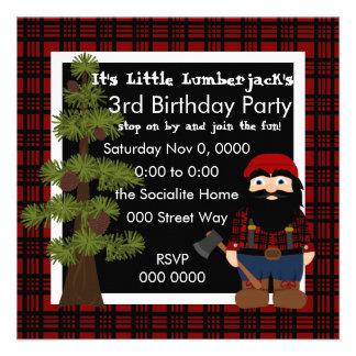Lumberjack Gnome Personalized Invitations