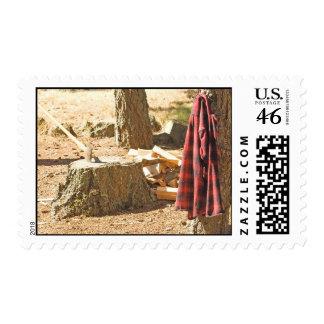 Lumberjack Life Postage Stamp