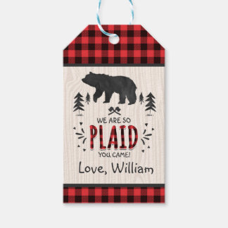 Lumberjack Party Favor Thank You Tag