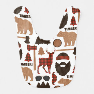 Lumberjack Pattern Bib