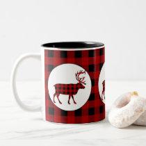 Lumberjack pattern Country moose coffee mug