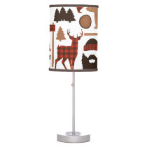 Lumberjack Pattern Desk Lamp