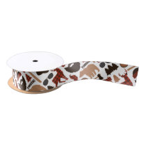 Lumberjack Pattern Satin Ribbon
