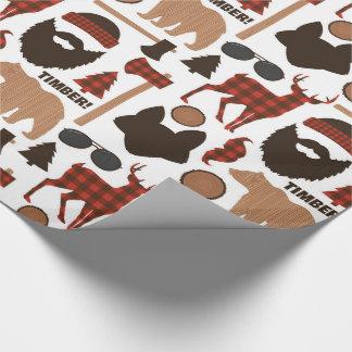 Lumberjack Pattern Wrapping Paper