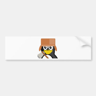 Lumberjack Penguin Bumper Sticker