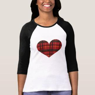 Lumberjack Plaid Heart Tee Shirt