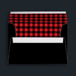 """lumberjack plaid rustic red black invitation envelope<br><div class=""""desc"""">This envelope is great for any occasion,  but goes great with our Lumberjack design</div>"""