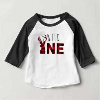 Lumberjack Plaid Wild One | First Birthday Baby T-Shirt