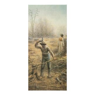 Lumberjack preparing firewood by Jean Millet Custom Rack Card