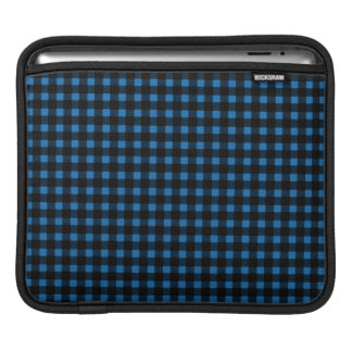 Lumberjack Print Blue Black Winter Buffalo Plaid iPad Sleeve
