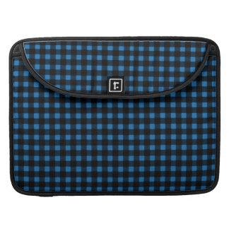 Lumberjack Print Blue Black Winter Buffalo Plaid MacBook Pro Sleeves