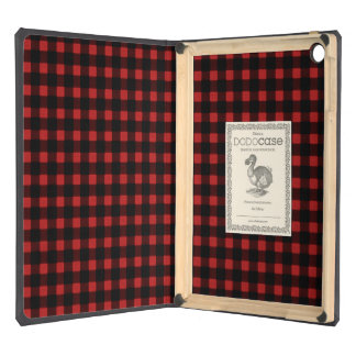 Lumberjack Print Red Black Winter Buffalo Plaid Case For iPad Air