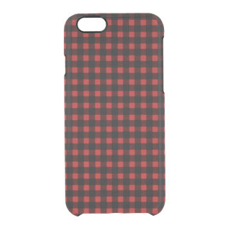 Lumberjack Print Red Black Winter Buffalo Plaid Clear iPhone 6/6S Case