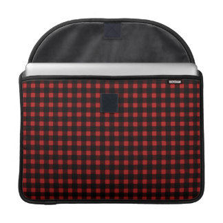 Lumberjack Print Red Black Winter Buffalo Plaid Sleeves For MacBook Pro
