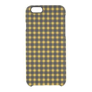 Lumberjack Print Yellow Black Winter Buffalo Plaid Clear iPhone 6/6S Case