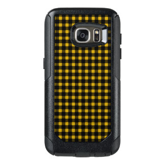 Lumberjack Print Yellow Black Winter Buffalo Plaid OtterBox Samsung Galaxy S7 Case