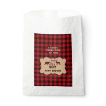 Lumberjack Red Buffalo Little Hunter Baby Shower Favor Bag