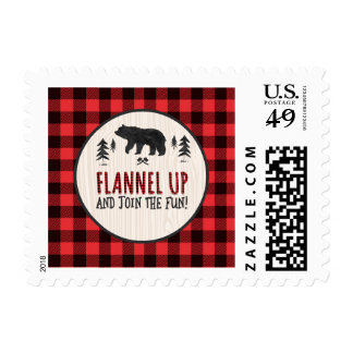 Lumberjack Red Buffalo Plaid Postage Stamp