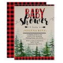 Lumberjack Red Plaid Boy Baby Shower Invitation