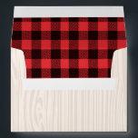 "Lumberjack Red Plaid Envelope Lumberjack Party<br><div class=""desc"">Lumberjack Red Plaid Envelope.  All designs are &#169; PIXEL PERFECTION PARTY LTD</div>"