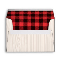 Lumberjack Red Plaid Envelope Lumberjack Party