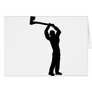 lumberjack shape greeting card