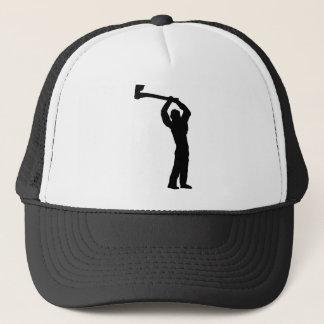 lumberjack shape trucker hat