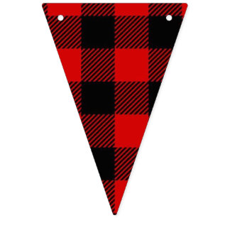 Lumberjack Style - red fabric + your ideas Bunting Flags