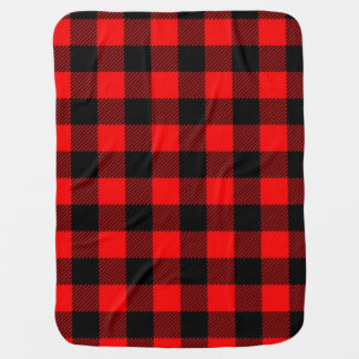 Lumberjack Style - red fabric + your ideas Receiving Blanket