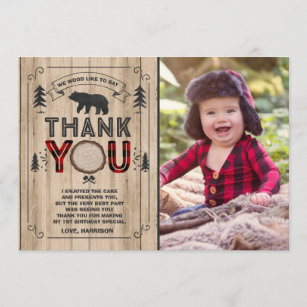 Lumberjack Thank You Card Party
