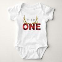 Lumberjack Wild One | First Birthday Baby Bodysuit