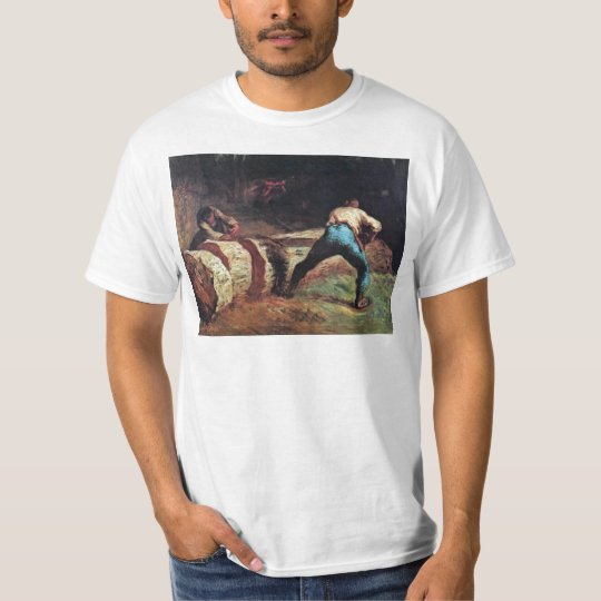 Lumberjacks Sawing Wood By Millet  (Best Quality) T-Shirt