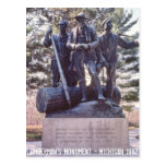 Lumberman's Monument Michigan Postcard