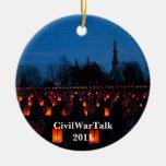 Lumbrera en el ornamento del cementerio de Gettysb Ornamentos Para Reyes Magos