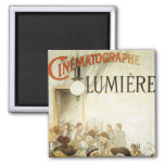 Lumière Brothers Cinema Poster 2 Inch Square Magnet